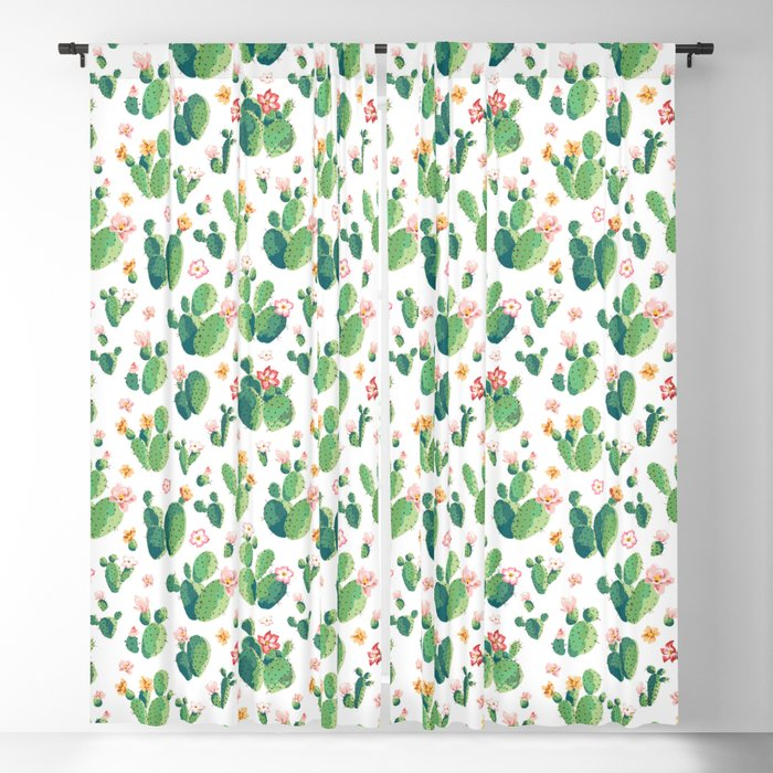 Cactus pattern II Blackout Curtain
