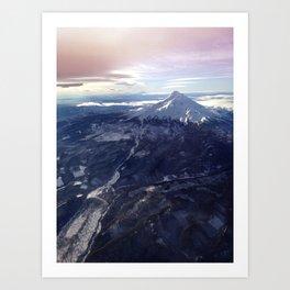 Mount Hood New Year Art Print