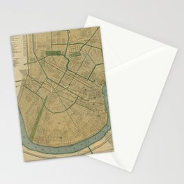 Vintage Map of New Orleans Louisiana (1893) Stationery Cards