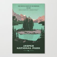 Jasper National Park Poster Canvas Print