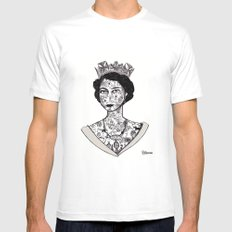 Grief is the price we pay for love - The Queen 2013 White Mens Fitted Tee MEDIUM