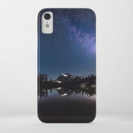 Summer Stars - Galaxy Mountain Reflection - Nature Photography iPhone Case