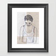 Patchwork Portrait: Katie West Framed Art Print