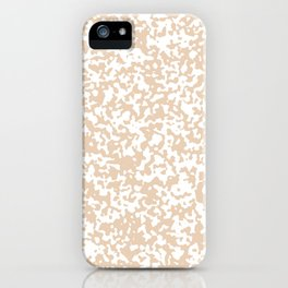 Small Spots - White and Pastel Brown iPhone Case