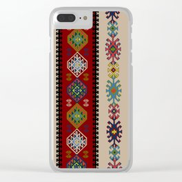 Kilim pattern #022 Clear iPhone Case