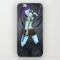 cyberpunk iPhone & iPod Skins featuring Cyberpunk by GrazilDesign