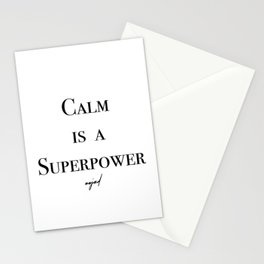 Calm Is A Superpower (Black Letters) Stationery Cards