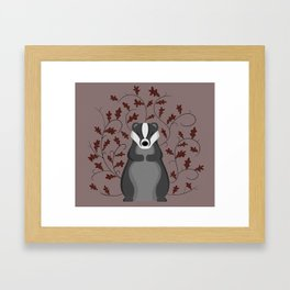 Badger Framed Art Print