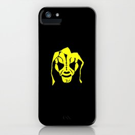 LA Park Mask Design Yellow iPhone Case