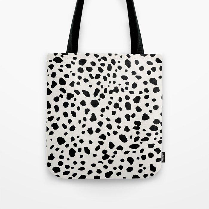 Polka Dots Dalmatian Spots Tote Bag