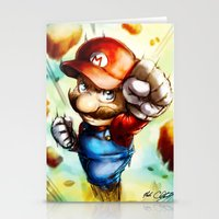 super mario Stationery Cards featuring Super Mario by markclarkii