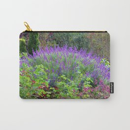 Purple Salvia In The Garden Carry-All Pouch
