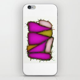 Crushed pink iPhone Skin
