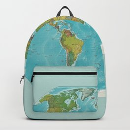 Topographic Map of the World Backpack