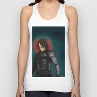winter soldier Tank Tops featuring Winter Soldier by toibi