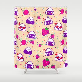 Kawaii Bento Party Shower Curtain