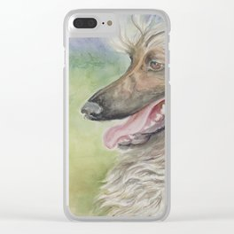 Afghan Hound Clear iPhone Case