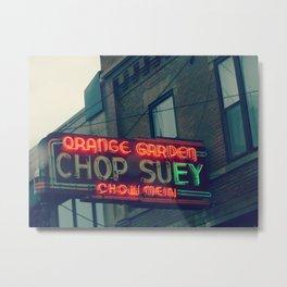 Chop Suey II ~ Chicago vintage neon sign Metal Print
