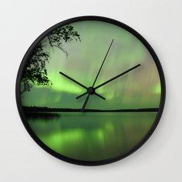 Aurora Borealis Reflection Wall Clock