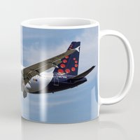 brussels Mugs featuring Brussels airlines Airbus A319 by David Pyatt