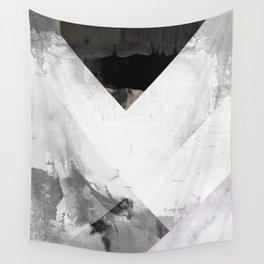 Marble black and white texture illustration art print gray scale Wall Tapestry