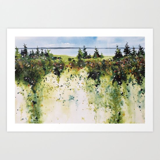 along Sainte Mary's Bay, Nova Scotia Art Print