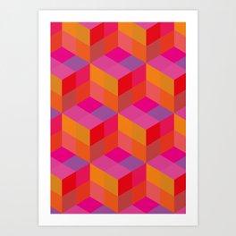 Geometrical pattern Art Print