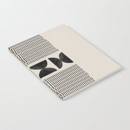 Mid Century Modern Geometric Notebook