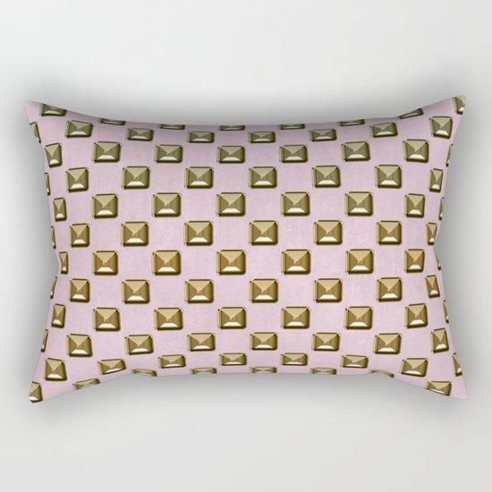Rose quartz Elegance metal pattern Rectangular Pillow