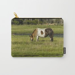 Pinto Mare with the Copper Colored Mane No. 1 - Chincoteague Ponies Assateague Horses Carry-All Pouch