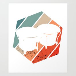 Bongos Bongo Player Music Instrument Present Art Print