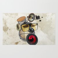 industrial Area & Throw Rugs featuring industrial existence by Vin Zzep