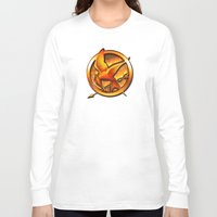 mockingjay Long Sleeve T-shirts featuring Mockingjay by Joshua Epling