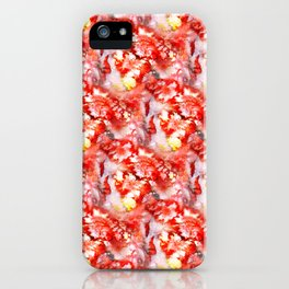 rough red marble iPhone Case