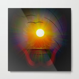 Abstract in perfection - Fertile Imagination sunrise Metal Print