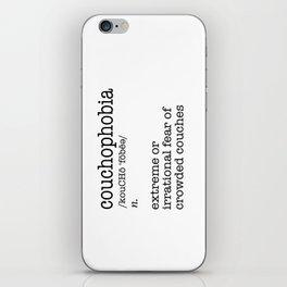 Couchophobia iPhone Skin