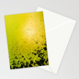 Abstract lime background with dirty dark spots Stationery Cards
