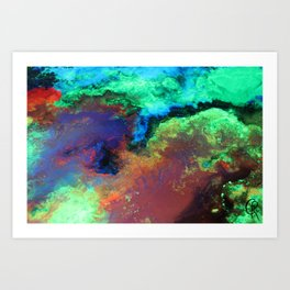 """""""Titan"""" Mixed media on canvas, abstract art painting designs, contemporary artist colorful design Art Print"""
