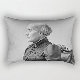 Susan B. Anthony Portrait - 1891 Rectangular Pillow