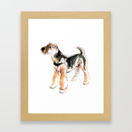 Airedale Terrier Watercolor #2 Framed Art Print