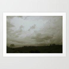 Dawn in the countryside Art Print