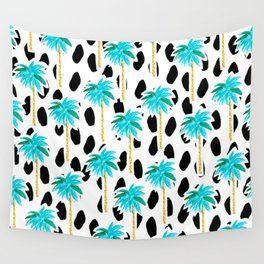 Palm Trees and Dots Wall Tapestry