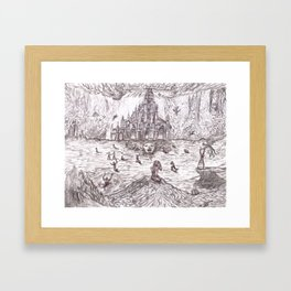 Cathedral of Hell. Framed Art Print