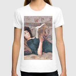12,000pixel-500dpi - Isaac Lazarus Israels - Reading Woman On A Couch - Digital Remastered Edition T-shirt
