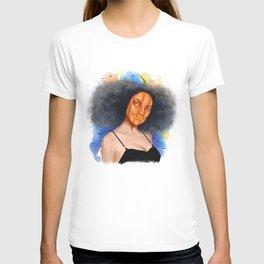 Pumpkin Girl in Halloween T-shirt