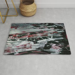 Black Pearl Abstract Ship At Night | Black and White Abstract | Corbin Henry Rug