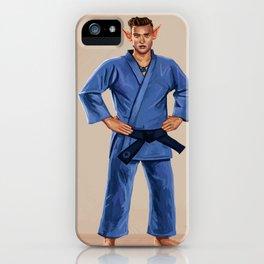 Karate Elf iPhone Case
