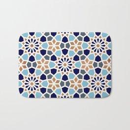 Persian Mosaic – Blue & Gold Palette Bath Mat