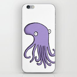 Purple Octopus iPhone Skin