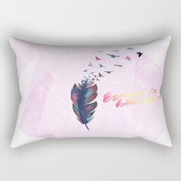 Geo Feather Rectangular Pillow